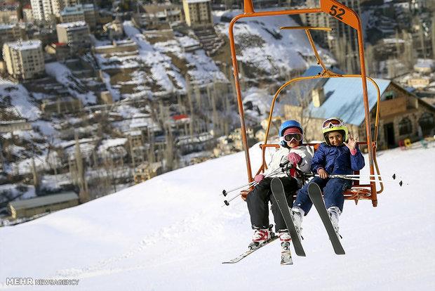 Tahran'da kayak keyfi