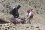نجات گردشگر ۴۵ ساله در منطقه «بانزکه» ماژین توسط هلال احمر