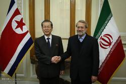 دیدار علی لاریجانی با چائو تائی بوک رییس مجمع عالی خلق کره شمالی
