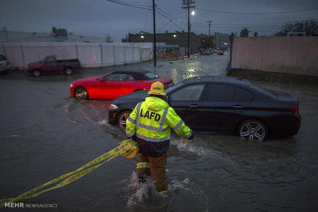 وقوع طوفان در کالیفرنیای آمریکا
