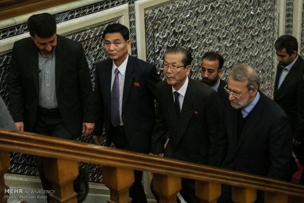 دیدار رئیس مجلس با رییس مجمع عالی خلق کره شمالی