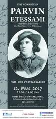 Berlin Hafez Institute to commemorate poet Parvin Etesami