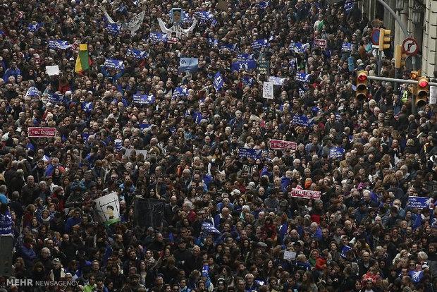 تظاهرات حمایت از پناهجویان در اسپانیا