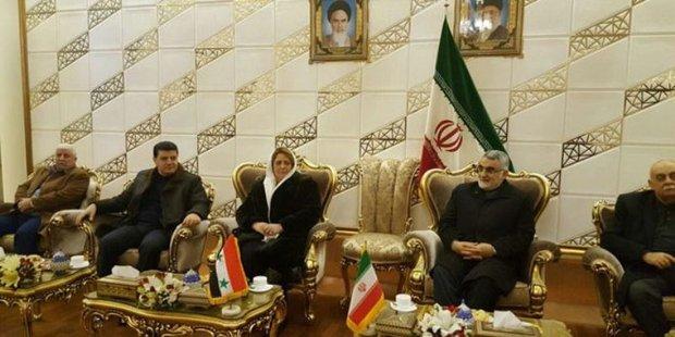 Syrian parl. speaker in Tehran for Palestine conf.