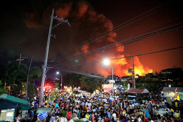 آتش سوزی در فیلیپین