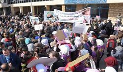 وقفة تضامنية في حلب مع أهالي كفريا والفوعة المحاصرين من قبل الإرهابيين