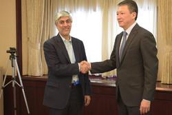 کیومرث هاشمی و رئیس کمیته ملی المپیک قزاقستان