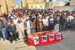 تشییع پیکر در بحرین