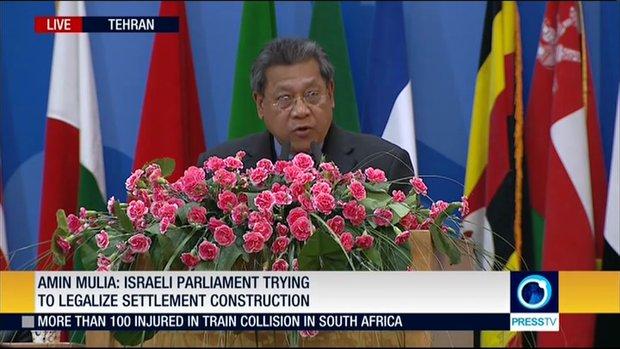 VIDEO: Malaysian Parl. head addresses Palestinian Conf.