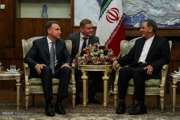 دیدار معاون اول نخست وزیر روسیه با معاون اول رئیس جمهور