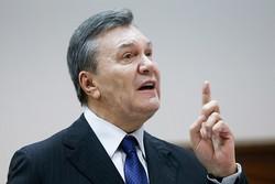 رئیس جمهور برکنار شده اوکراین خواستار همه پرسی در «دونباس» شد
