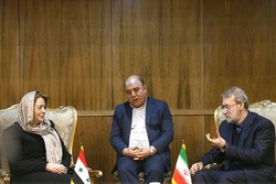 لاریجانی در دیدار رئیس مجلس سوریه