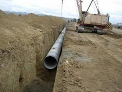اجرای عملیات لوله گذاری و خط انتقال آب در اسلامشهر