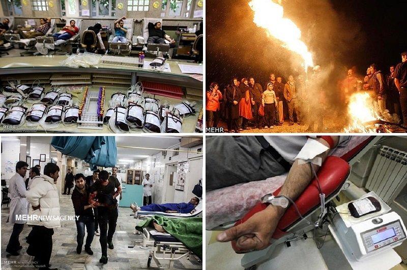 اهدای زندگی بهجای رفتارهای مخاطرهآمیز در چهارشنبه سوری