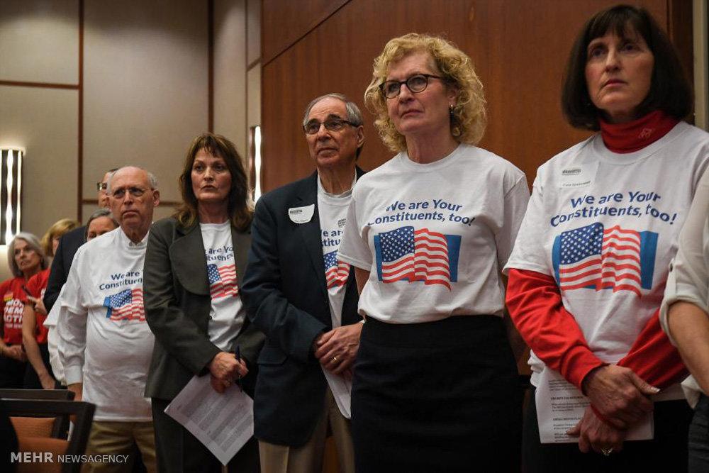 اعتراض شهروندان آمریکایی به سیاست های ترامپ