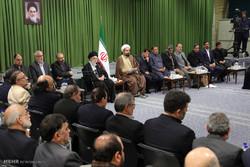 دیدار جمعی از شاعران مذهبی با رهبر معظم انقلاب در آستانه شهادت حضرت فاطمه زهرا(س)