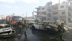 32 شهيداً بهجوم نفّذه 6 انتحاريين ارهابيين استهدف مركزين أمنيين في حمص
