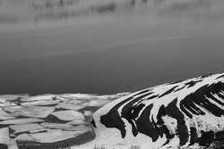 یخ زدن سد مهاباد