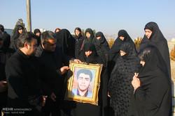 استقبال از پیکر ۱۱ شهید دوران دفاع مقدس در تبریز