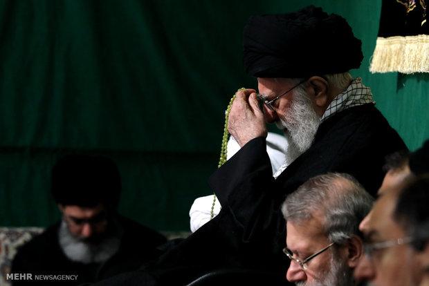 اقامة مراسم العزاء باستشهاد فاطمة الزهراء (س) بحضور قائد الثورة