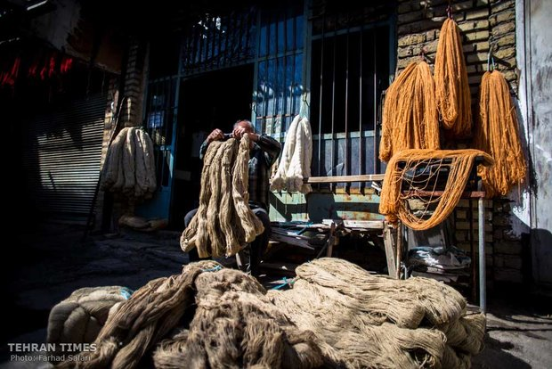 Traditional dyer caters to rug weaving workshops