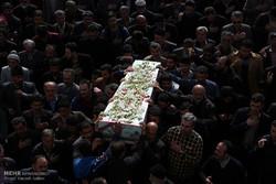 مراسم تشییع شهید گمنام در آمل