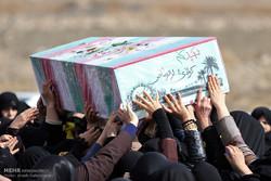مراسم تشییع و خاکسپاری دو شهید گمنام در خمین