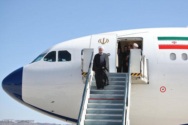 الرئيس روحاني يبدأ جولة تفقدية لمدينة مشهد المقدسة