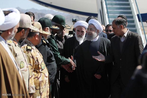 جولة تفقدية للرئيس روحاني في سيستان وبلوشتسان