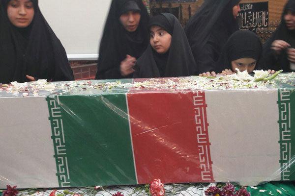 مراسم استقبال از پیکر مطهر ۳ شهید گمنام در بجنورد برگزار شد