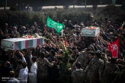 دو گمنام شہیدوں کی تشییع جنازہ