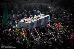 پیکر پاک دو شهید گمنام در شهرستان محلات تشییع و خاکسپاری شد