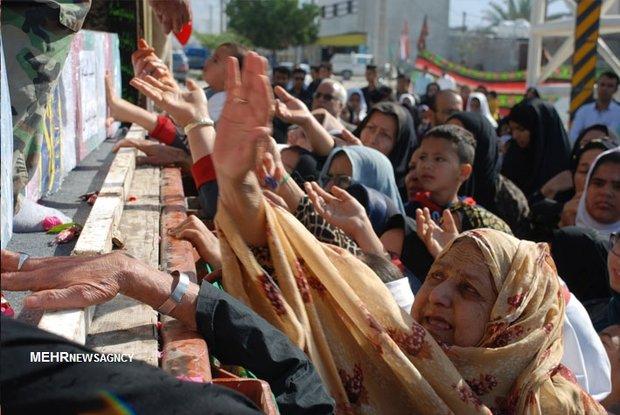 استقبال باشکوه مردم شهرها و روستاهای شهرستان دیر از شهدای گمنام