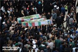 تشییع ۱۵ شهید گمنام و عاشورایی در مازندران