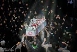 تشییع پیکر دو شهید گمنام در تهران