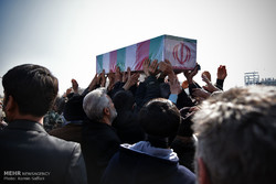 اجتماع عظیم عزاداران فاطمی و تشییع  دو شهید گمنام در مشهد
