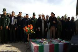 مراسم تشییع دو شهید گمنام در بیارجمند