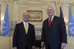 نشست خصوصی وزیر خارجه آمریکا با آمانو پیرامون برجام