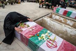 تشیع دو شهید گمنام سال های دفاع مقدس در شریفیه قزوین