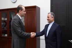 السفير الايراني الجديد يقدم نسخة من أوراق اعتماده الى وزير الخارجية الجورجي