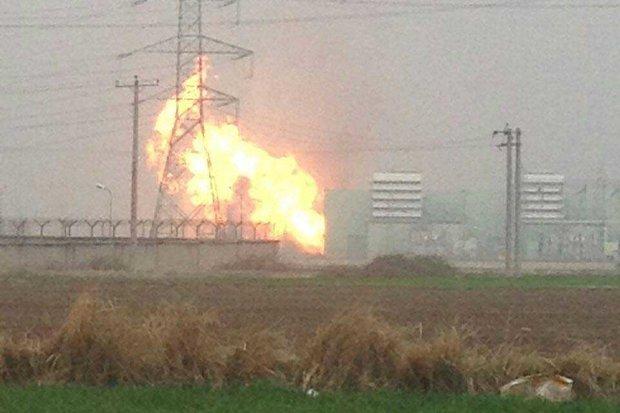 إخماد حريق اندلع في محطة علي آباد للطاقة