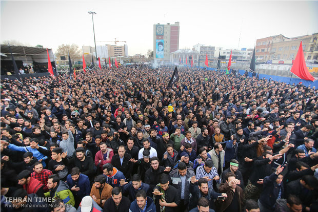 Mourning ceremony for Hazrat Fatemeh Zahra (SA) in Tehran