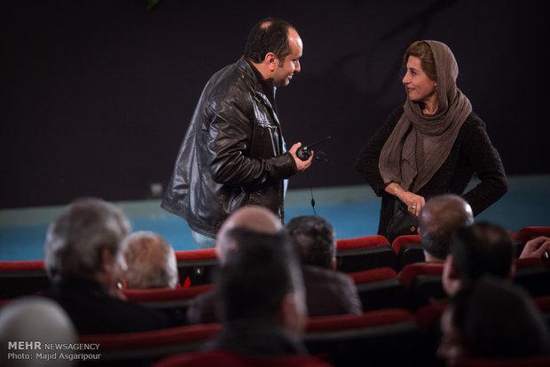 فاطمه معتمدآریا و مازیار میری در مراسم تجلیل از اصغر فرهادی