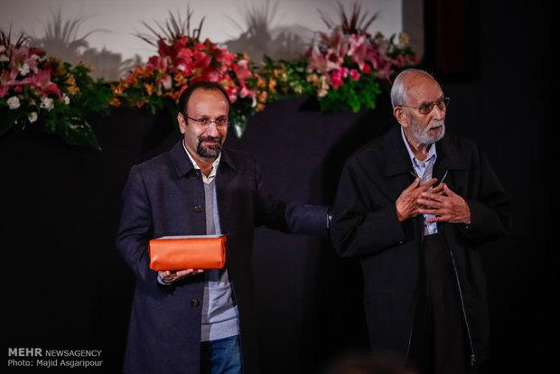 اصغر فرهادی در کنار دکتر محمدعلی موحد