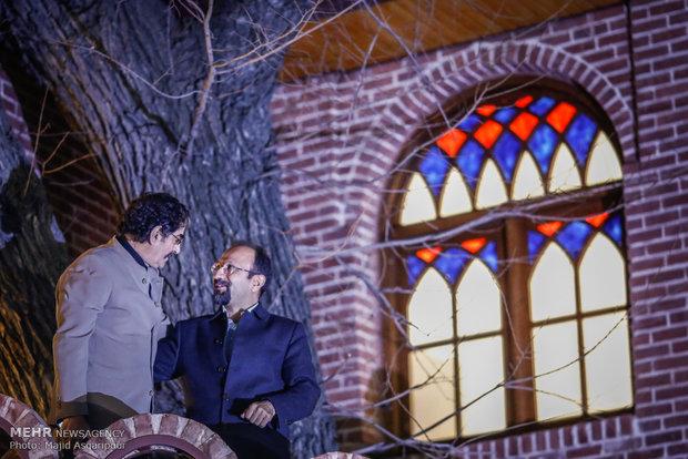 شهرام ناظری در مراسم تجلیل از اصغر فرهادی