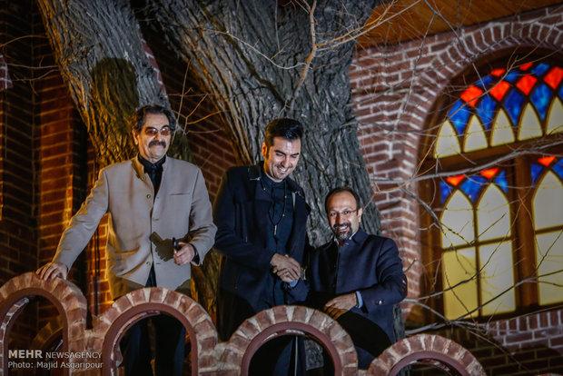 شهرام و حافظ ناظری در مراسم تجلیل از اصغر فرهادی