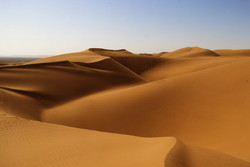 A view of Maranjab Desert in central Iran