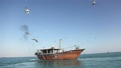The file photo shows a fishing boat in the Persian Gulf.