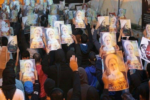 Bahreynli göstericilerden Şeyh İsa Kasım'a yoğun destek