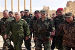 فیلم/بازدید وزیر دفاع سوریه از تدمر